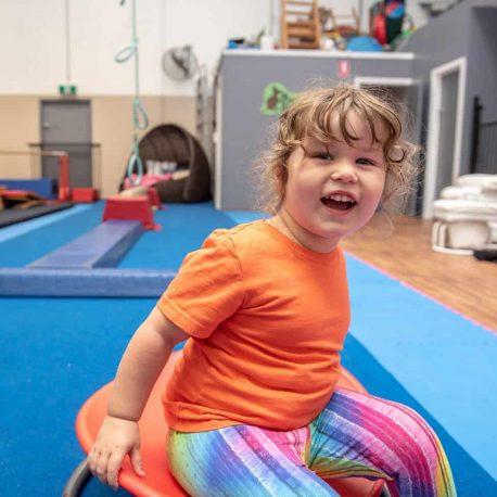 Preschooler all smiles at seaford kindergym