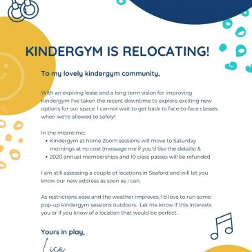 Kindergym is relocating!