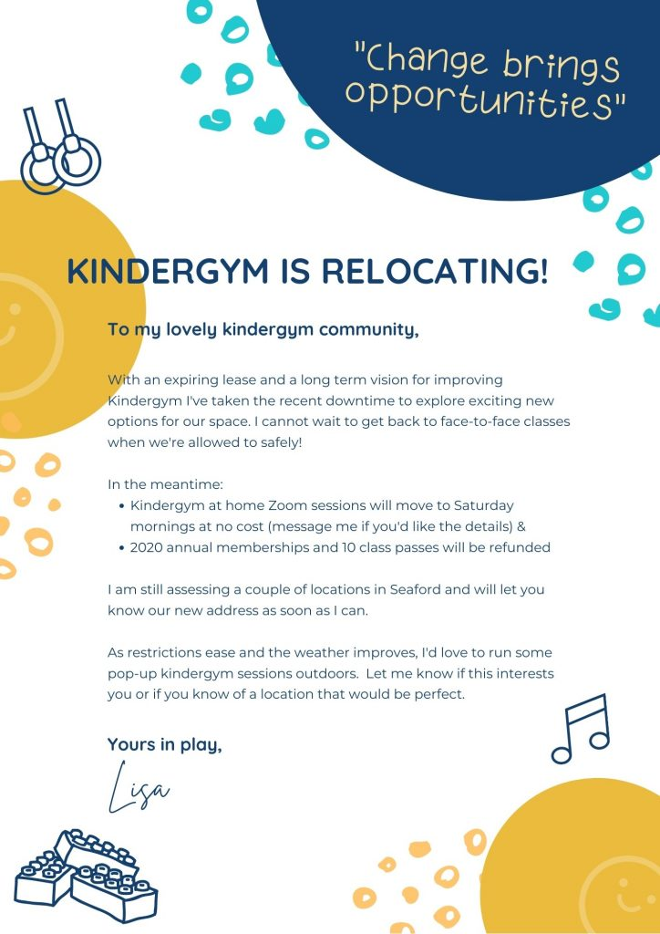 kindergym is relocating